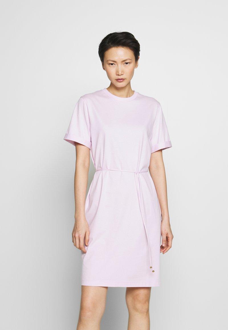 Filippa K - CREW NECK  DRESS - Žerzejové šaty - lilac snow