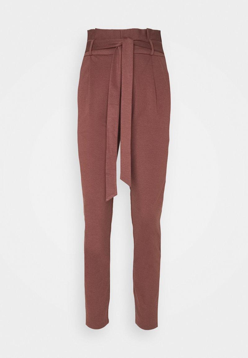 Vero Moda - VMEVA LOOSE PAPERBAG PANT - Bukse - marron