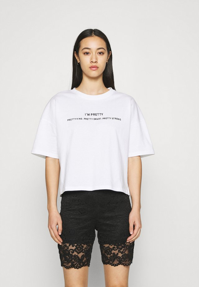 NMAMY UNITE - T-shirt con stampa - bright white