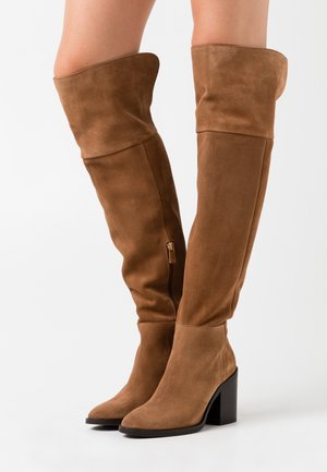 MODERN BOOT - High heeled boots - natural cognac