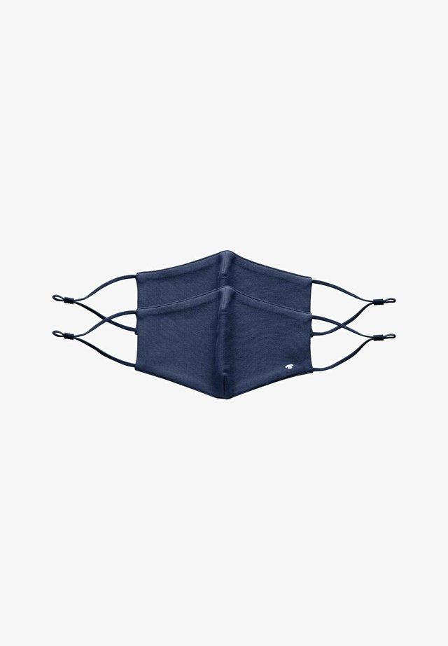 2 PIECE PACK - Stoffen mondkapje - sky captain blue