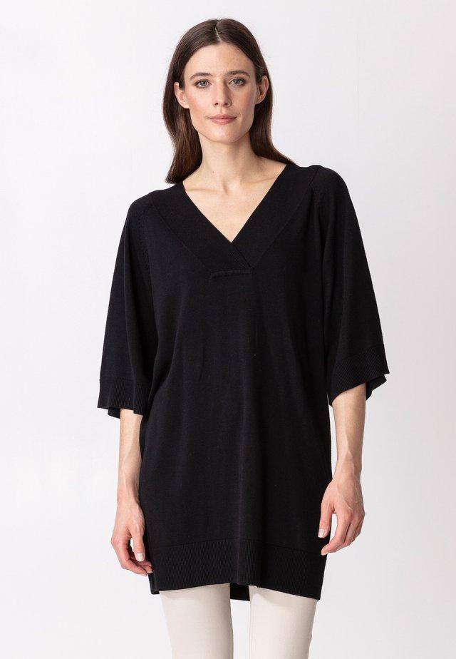 OPAL - Abito in maglia - black