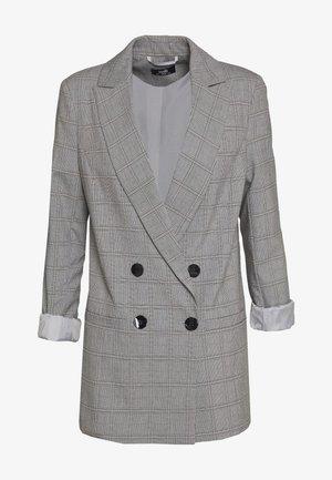 CHECKED - Pitkä takki - grey