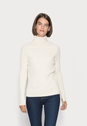 LONGSLEEVE TURTLE NECK STRUCTURE - Jumper - chalky sand