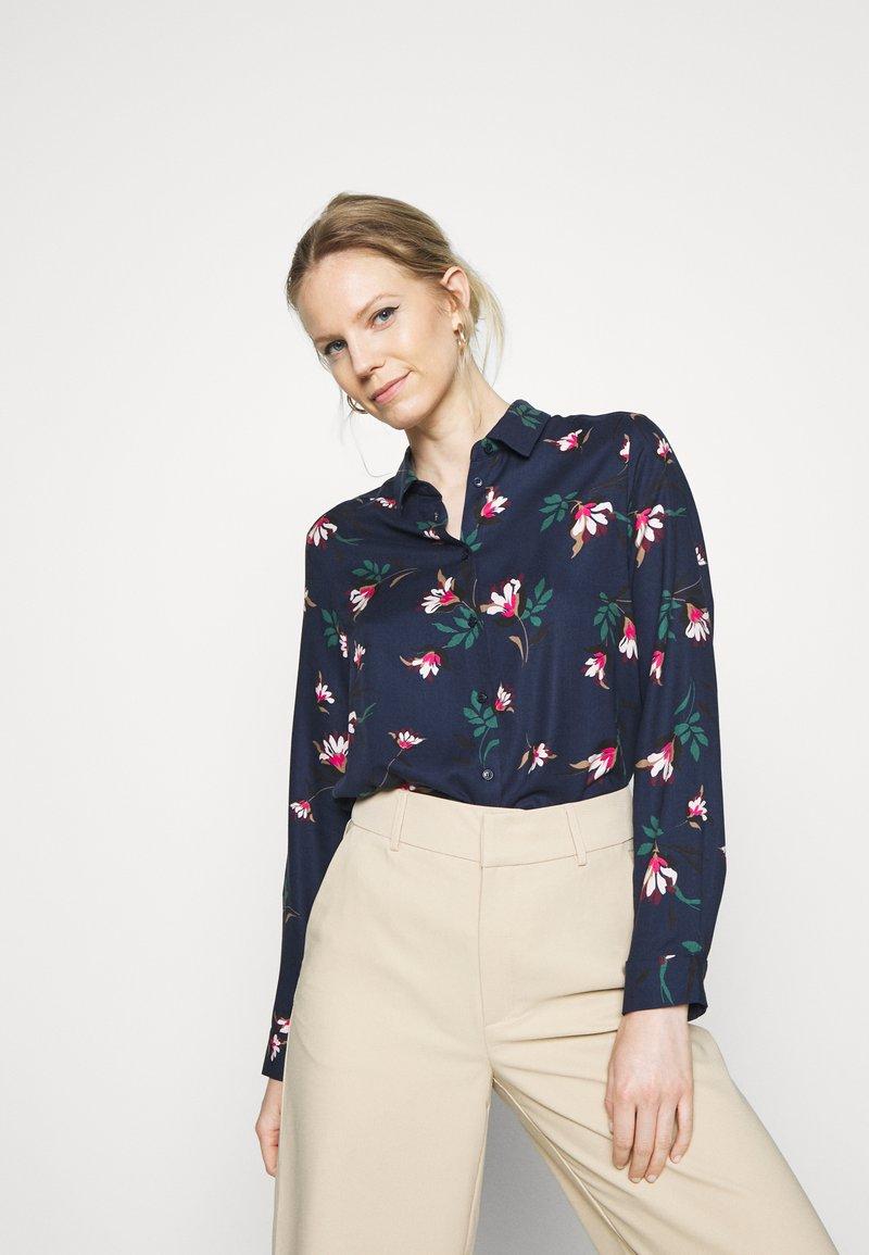 Seidensticker - LANGARM - Button-down blouse - navy
