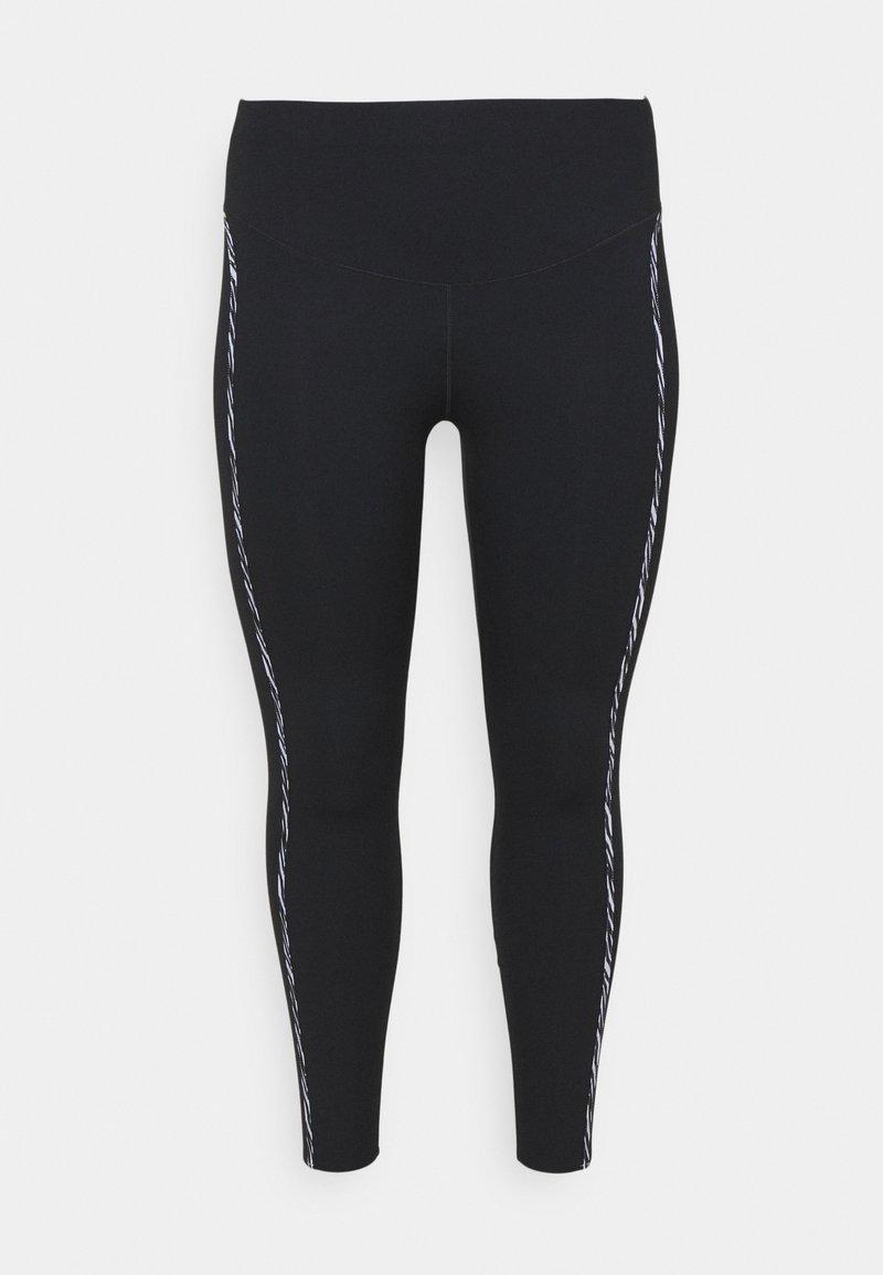 Nike Performance - ONE LUX - Leggings - black/purple chalk/clear