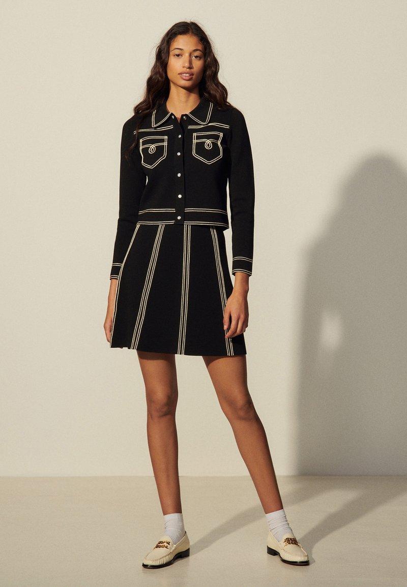 sandro - EUDINE - Mini skirt - noir