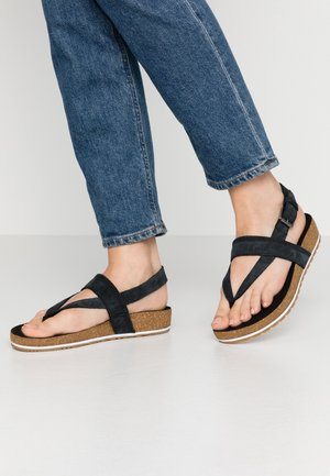 MALIBU WAVES THONG - T-bar sandals - black