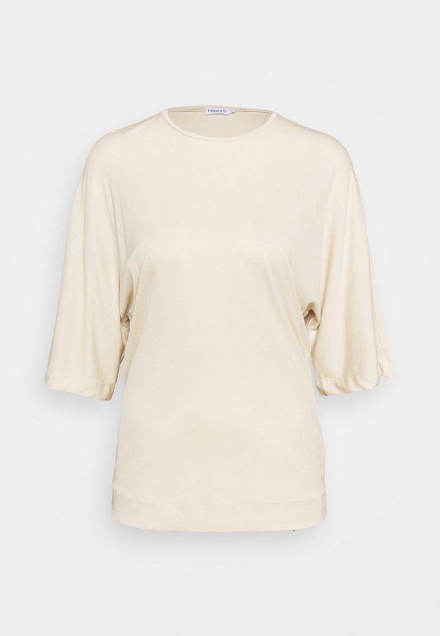 ANNABEL - Jednoduché triko - soft beige