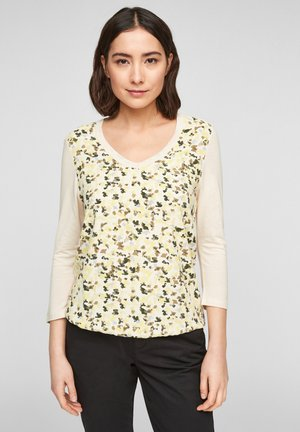 Long sleeved top - offwhite aop