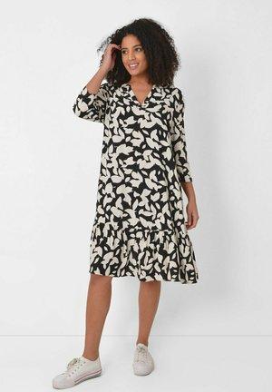 MONO LEAF - Korte jurk - black
