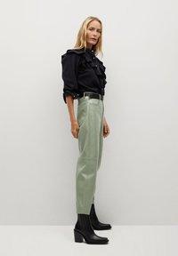 Mango - WALLY - Trousers - vert - 3