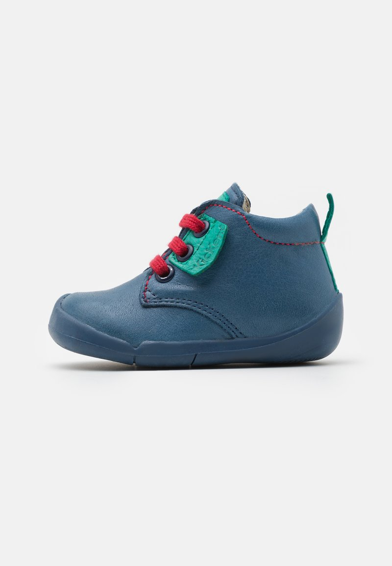 Kickers - WAZZAP - Baby shoes - bleu/vert