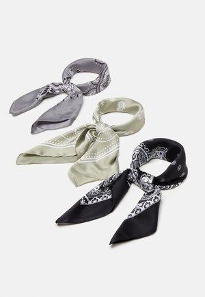 3 PACK - Foulard - black/grey/green