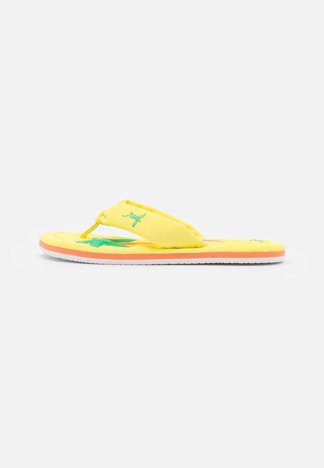 POOL FLOAT - Sandalias de dedo - yellow