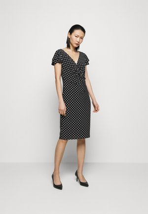 PRINTED MATTE DRESS - Shift dress - black