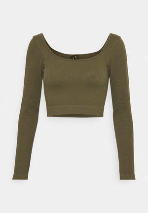 VMEVE - T-shirt à manches longues - dark olive