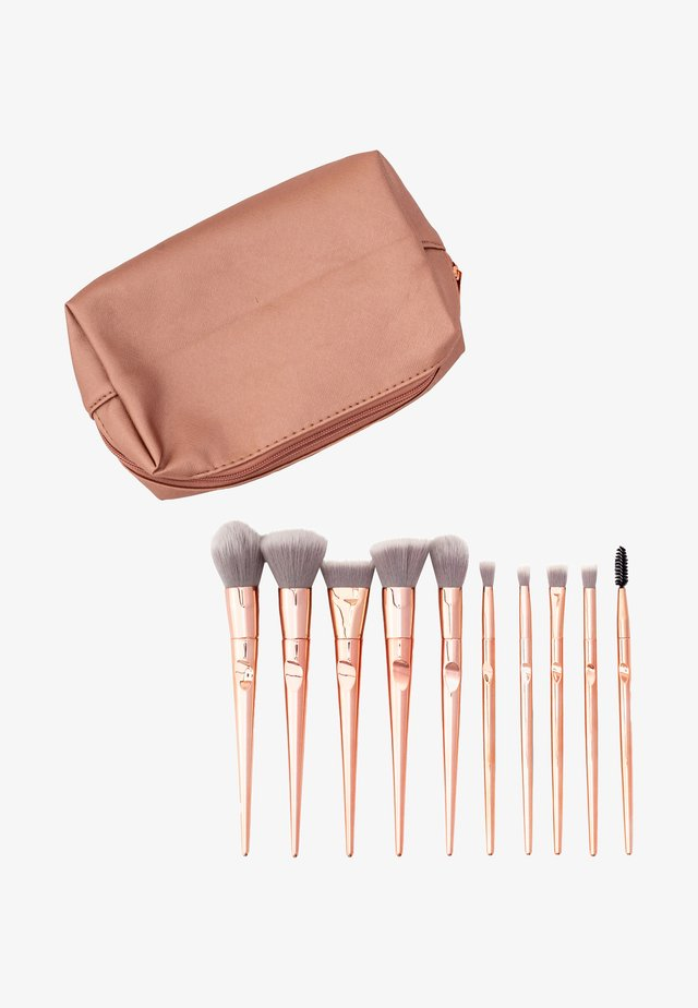 ROSE GOLDMAKEUP BAG + 10 ROSE GOLD ERGONOMIC BRUSHES - Kit pennelli - mix