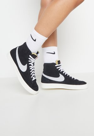 BLAZER MID '77 - Sneakersy wysokie - black/pure platinum/sail/white