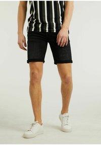 CHASIN' - Denim shorts - black - 0