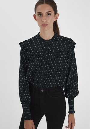 IHCARINA SH - Button-down blouse - black