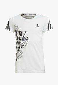 adidas Performance - GRAPHIC - T-shirt z nadrukiem - white, black - 0