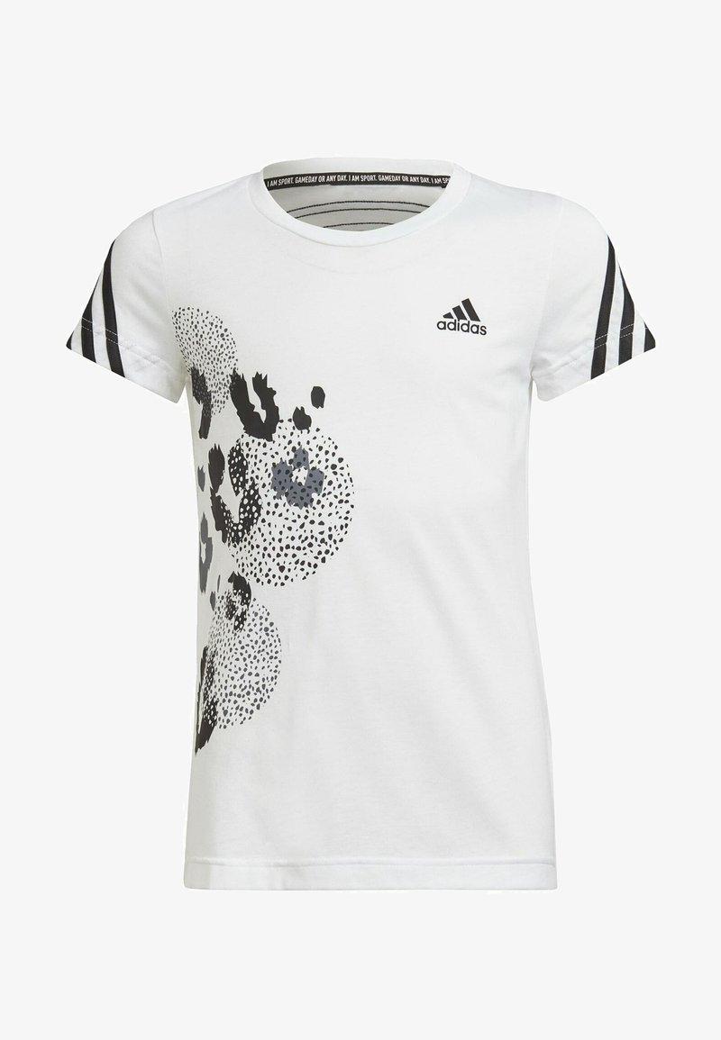 adidas Performance - GRAPHIC - T-shirt z nadrukiem - white, black