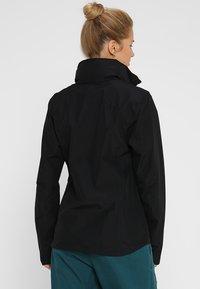Jack Wolfskin - EVANDALE JACKET - Hardshell jacket - black - 3