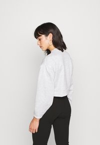 Missguided Petite - RUCHED SLEEVE - Felpa - grey - 2