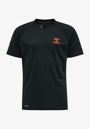 ACTION  - T-shirt imprimé - black/fiesta