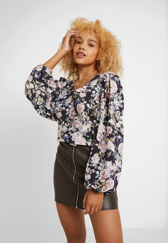 PRINTED WRAP BLOUSE - Camicetta - multicoloured