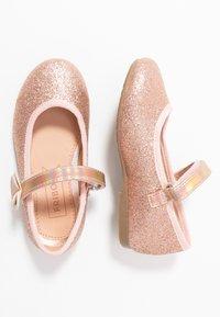 Friboo - Ankle strap ballet pumps - rose gold - 1
