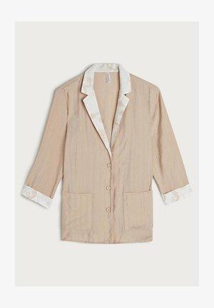 AUS VISKOSE NOMADIC FRINGES - Pyjama top - natürlich - 397i - natural beige/talc white