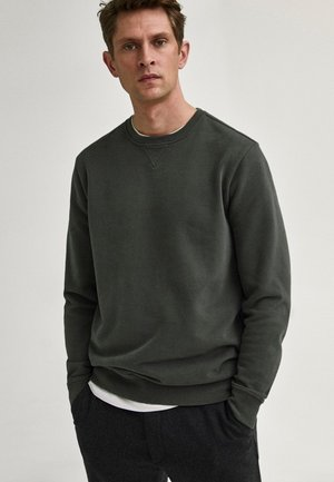 MIT KONTRASTDETAIL - Sweatshirt - green