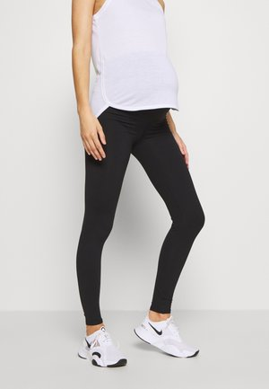 MATERNITY CORE OVER BELLY - Legginsy - black