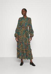 Farm Rio - TEAL BANANA MAXI DRESS - Maxi dress - multi - 0