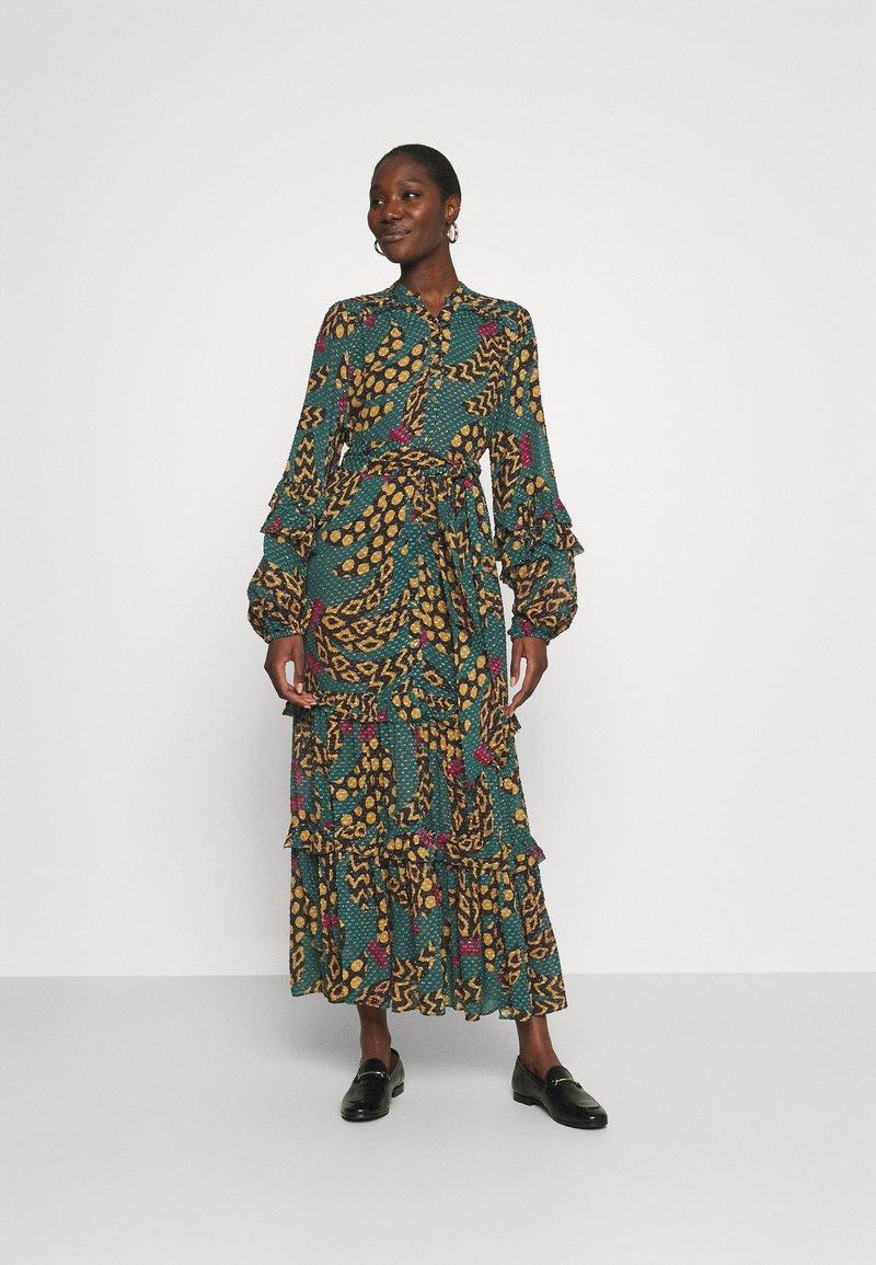 Farm Rio - TEAL BANANA MAXI DRESS - Maxi dress - multi