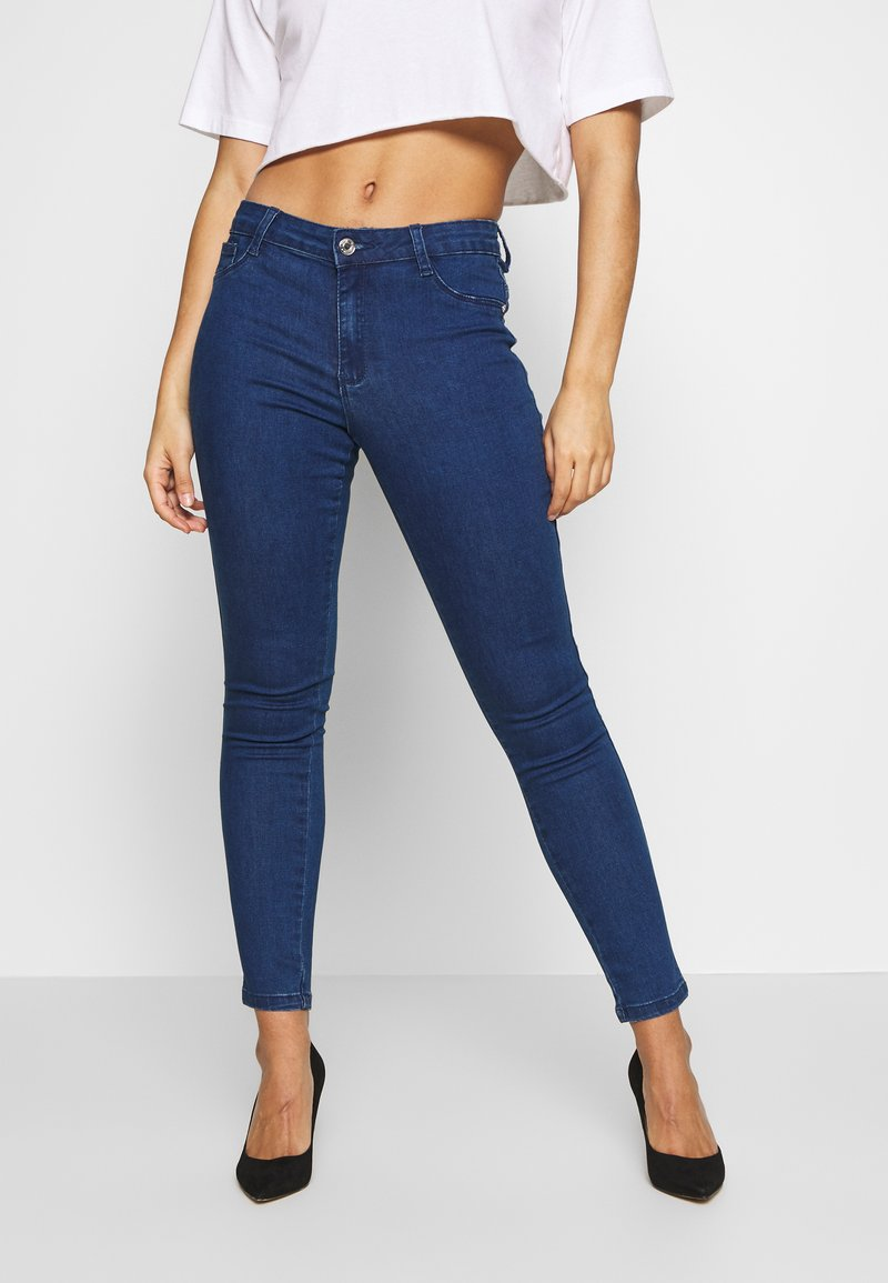Missguided Petite - ANARCHY MID RISE - Jeans Skinny Fit - indigo