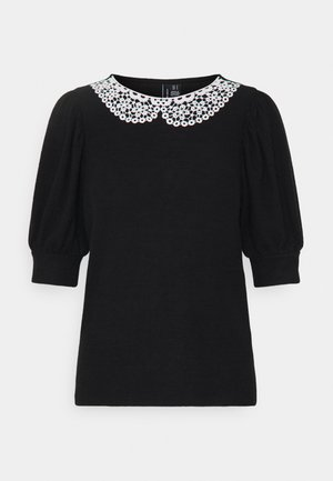 VMTAMIRA COLLAR - T-shirt con stampa - black/snow white