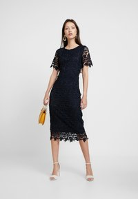 Missguided - CROCHET OPEN BACK MIDI DRESS - Cocktail dress / Party dress - dark blue - 2
