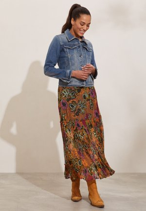 A-line skirt - apricot tan