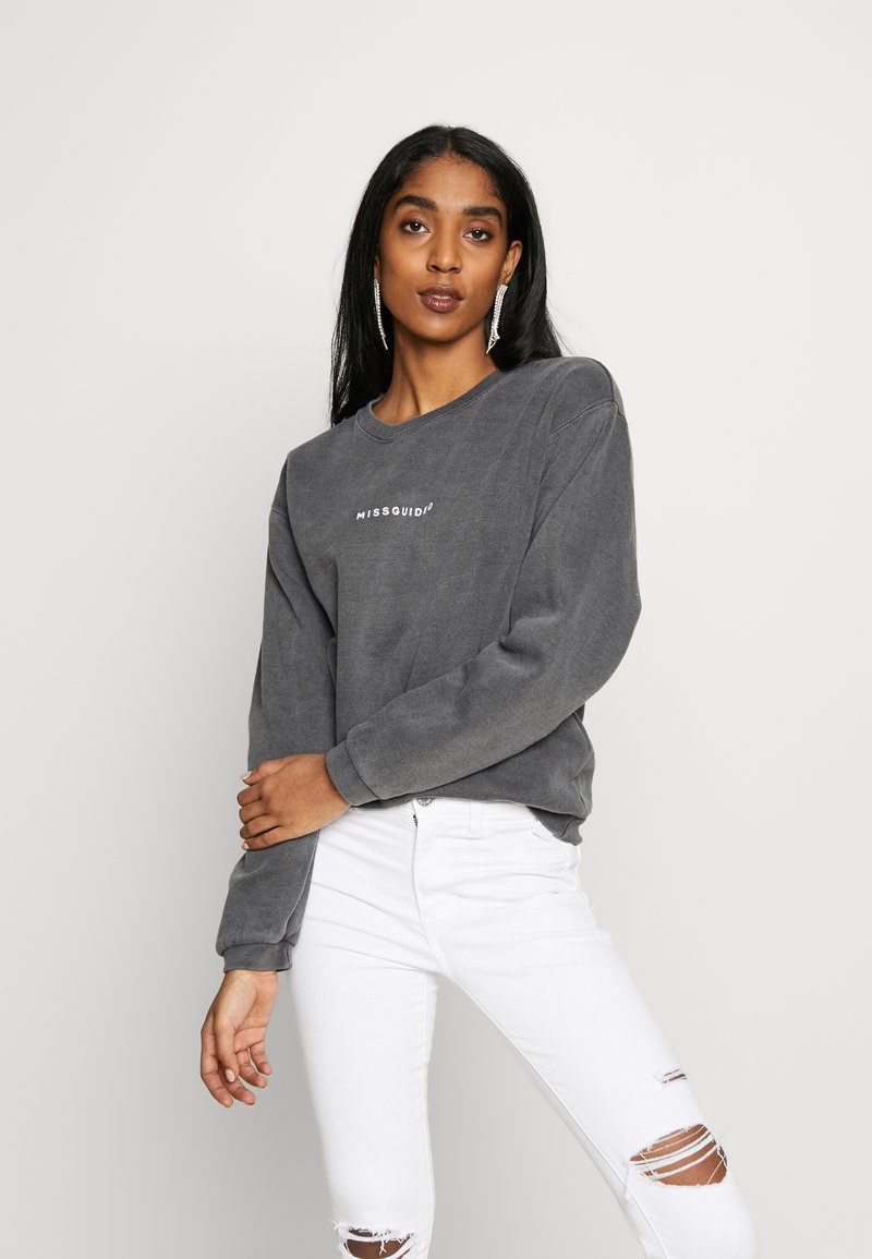 Missguided - WASHED - Sweatshirt - black