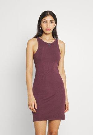 STELLA SHORT DRESS - Tubino - dark red