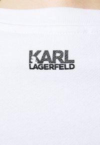 KARL LAGERFELD - SIGNATURE - Sweatshirt - white - 5