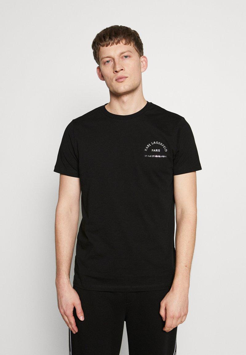 KARL LAGERFELD - CREWNECK - T-shirt imprimé - black