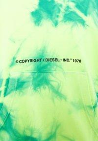 Diesel - S-ALBYEL-X4 SWEAT-SHIRT UNISEX - Hoodie - green lime tye dyed - 2