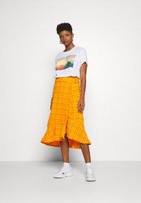 Monki - LANE SKIRT - Wrap skirt - orange - 1
