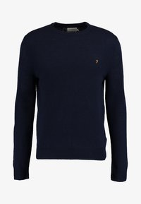 Farah - THE ROSECROFT CREW NECK  - Stickad tröja - true navy - 4