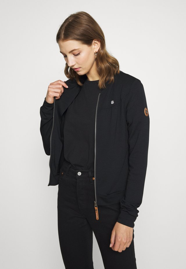 KENIA - veste en sweat zippée - black