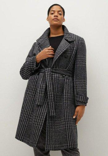MINIMAL - Classic coat - schwarz